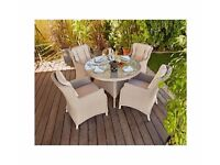 Argenta Rattan Effect 4 Seater Dining Table ( TABLE ONLY)