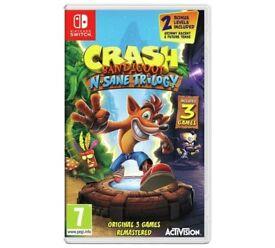 Crash Bandicoot N. Sane Trilogy Nintendo Switch Game - SEALED