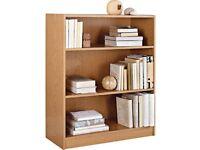 HOME Maine 2 Shelf Small Bookcase - Oak Effect 996.