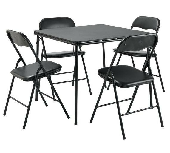 Argos Fold Away Table And Chairs: Argos Home Quin Metal Folding Table & 4 Folding Chairs