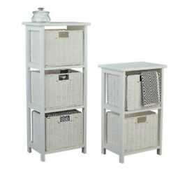 Collection 2 & 3 Drawer Storage Unit - White RRP £50