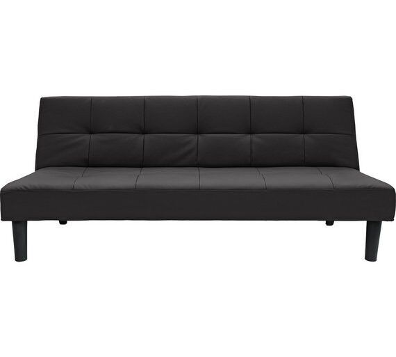 home patsy 2 seater clic clac sofa bed black by home by. Black Bedroom Furniture Sets. Home Design Ideas