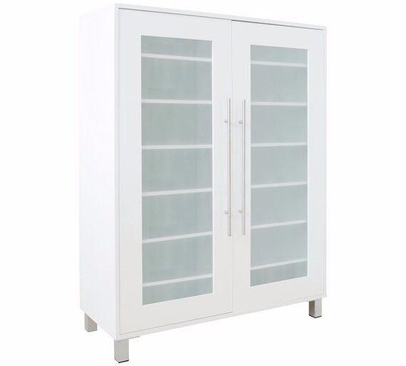 Hygena Lydiard Gloss Shoe Cabinet - White 771.