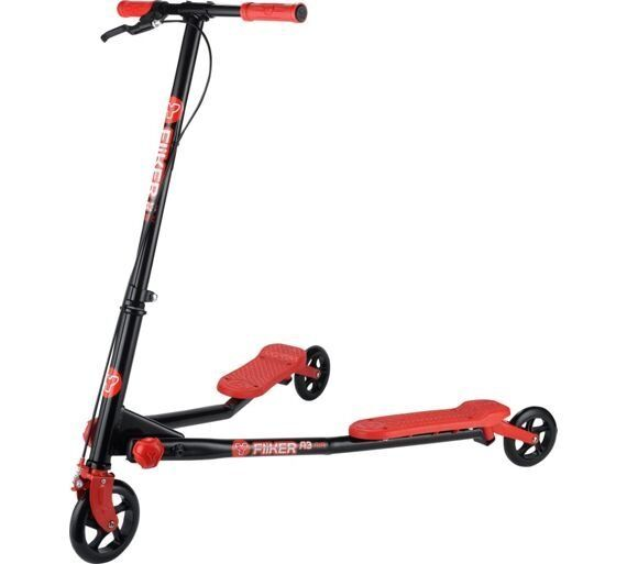 Yvolution Y Fliker A3 Air Scooter - Red flicker 3 wheels scissor 70 pounds on argos | in ...