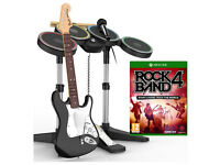 Rock Band 4 - Band in a Box (Xbox One) - Game/Drums/Guitar/Mic