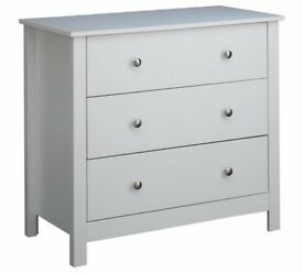 Ex display Osaka 3 Drawer Chest - Soft Grey