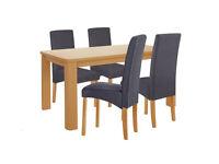 already built up Swanley 150cm Oak Table