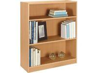 HOME Maine 2 Shelf Small Bookcase - Beech Effect 986.