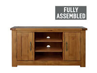already built up Harvard Low Sideboard TV Unit - Solid Pine