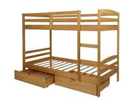Josie Bunk Bed with Drawers - Pine
