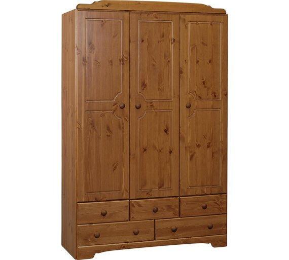 Nordic 3 Door 5 Drawer Wardrobe - Pine