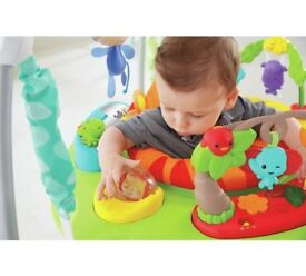 Fisher-Price Roaring Rain-forest Jumperoo baby bouncer. Swing music lights NEARLY NEW.
