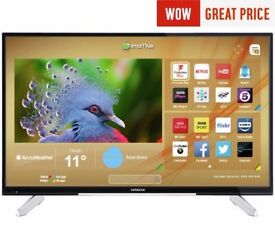 Hitachi 55 Inch Ultra HD Smart Freeview Play LED TV