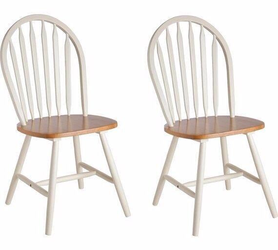 Collection Kentucky Pair of Solid Wood Chairs - Two Tone Argos RRP £99.99