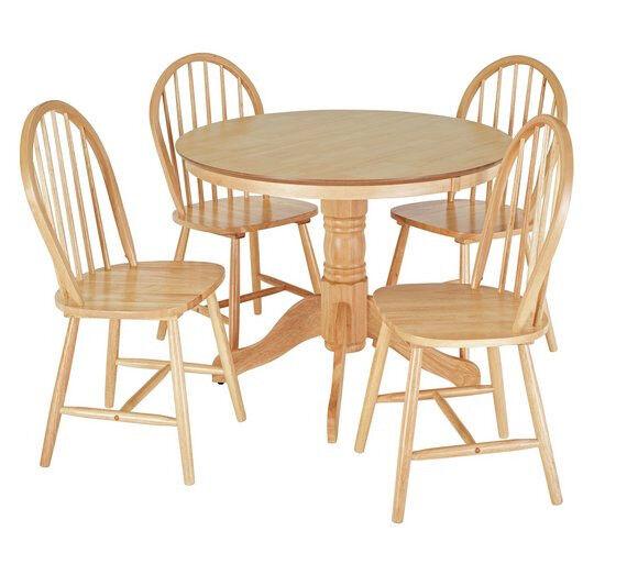 Kentucky Wood Veneer Table 4 Chairs