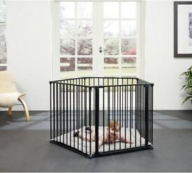 BabyDan Playpen - Black with playmat, excellent condition