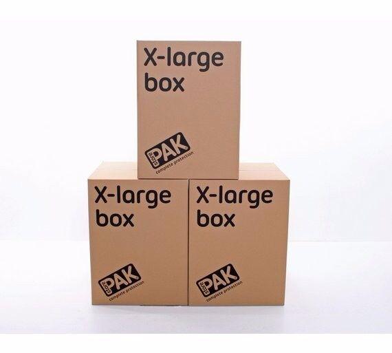 Set of 3 Extra Large Cardboard storage/ Moving Box