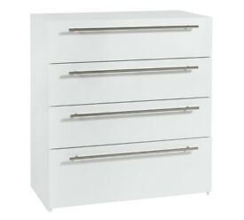 Hygena Atlas 4 Drawer Chest - White Gloss