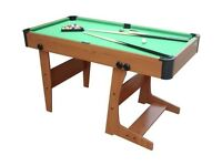 Foldable Pool Table 4 FT 6 inch with cue and balls and triangle
