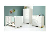 already built up Mamas & Papas Rocco 3 Piece Furniture Set - White