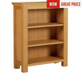 Kingsbury Small Oak & Oak Veneer Bookcase