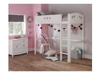 Kids Mia Highsleeper Bed Frame - White