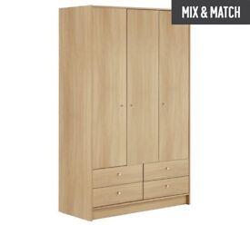 3 Door 4 Drawer Flatpack Wardrobe
