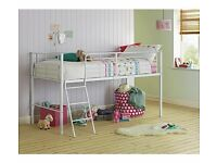 white childrens mid sleeper bed