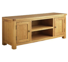 Heart of House Kent Solid Oak & Oak Veneer TV Bench