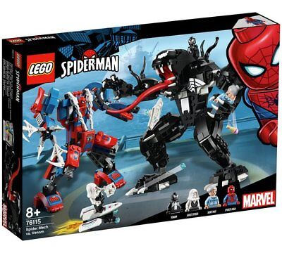 LEGO Superhero Spider Mech Fight Playset - 76115 Best Game Gift For