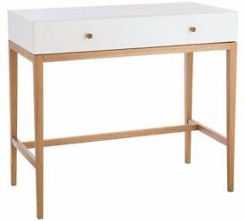 Ex display Habitat Tatsuma 1 Drawer Dressing Table - Ash & White