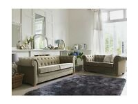 Chesterfield sofa x 2 mink