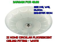 2X HOME Circular Fluorescent Ceiling light White with circle tubeUSED GOOD CONDITION HOME CELECTION