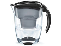Brita Elemaris Meter XL Water Filter Jug - Black - Alomost new - orginal bill and packaging