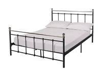 Brand new 4ft small double bed black frame