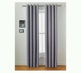 Brand new in packet blackout curtains in light purple/lavender RRP£44.99