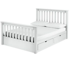 Collection Maximus Kingsize Drawer Bed Frame - White