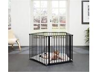 BabyDan Playpen - Black with playmat, excellent condition.
