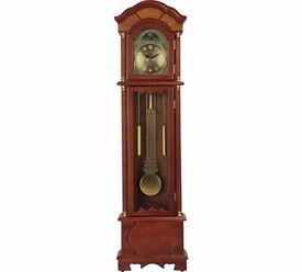 HOME Walnut Floor Standing Pendulum Grandfather Clock 250.