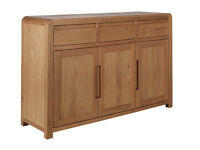 Heart of House Novara 3 Door 3 Drawer Oak Veneer Sideboard
