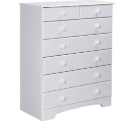 Ex Display Nordic 5+2 Drawer Chest - White