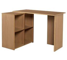 HOME Calgary Corner Office Desk - Oak Effect