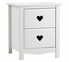 Ex display New Mia Bedside Chest - White