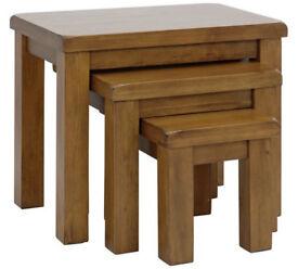Arizona Nest of 3 Solid Wood Tables