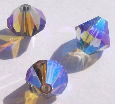 Black Bicone Swarovski Crystal Beads - Swarovski bicone Austrian crystal beads Black Diamond AB2X choose 3mm 4mm