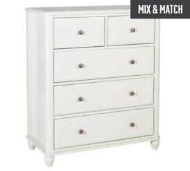Ex display Ashbourne 3+2 Drawer Chest - Ivory