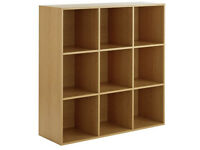 HOME Phoenix 9 Cube Storage Unit - Oak Effect