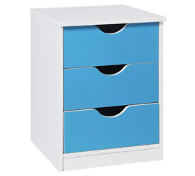 HOME New Pagnell Bedside Chest - Blue