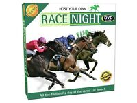 host your own race night dvd game brand new