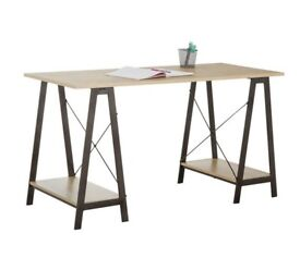 Oak style trussle desk / table